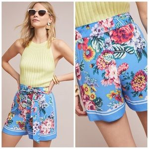 Maeve Scarf-printed Shorts